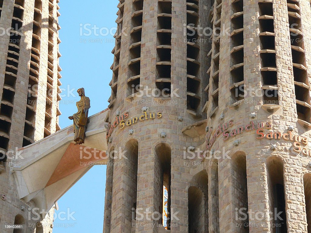 Details of Sagrada Familia cathedrals  in Barcelona royalty-free stock photo