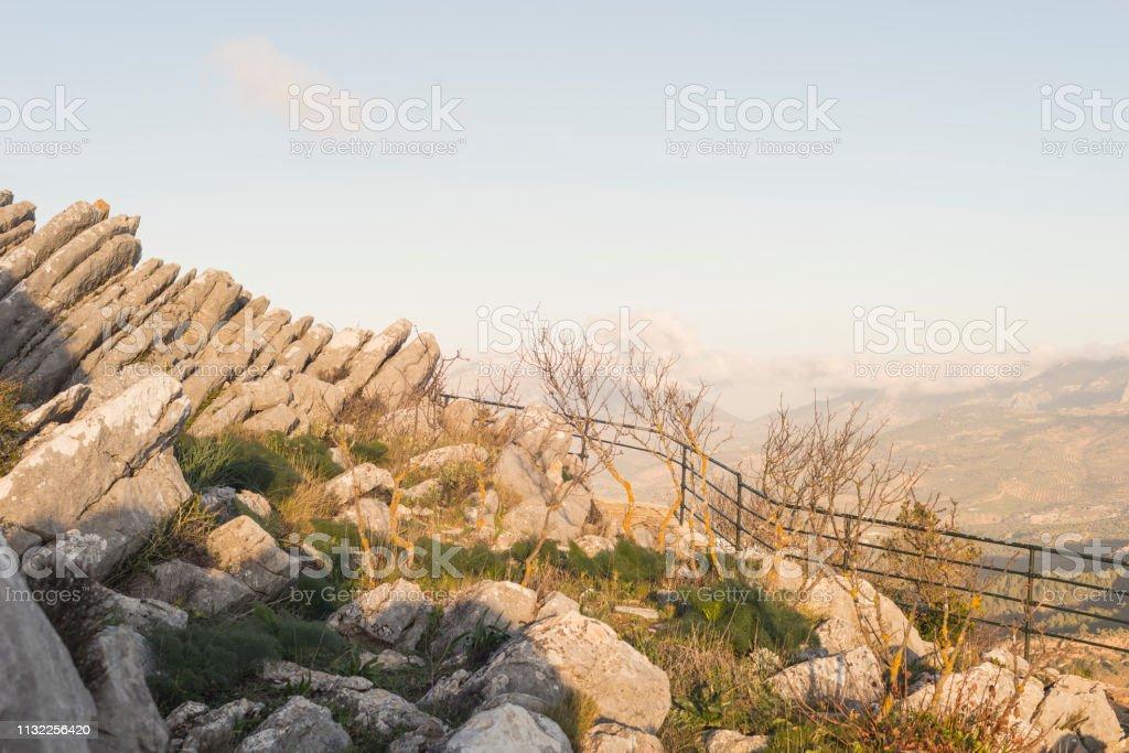 Details of Sierra de las Nieves stock photo