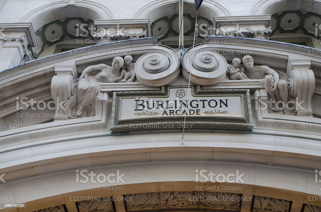Details of the Burlington Arcade in London royalty-free stock photo