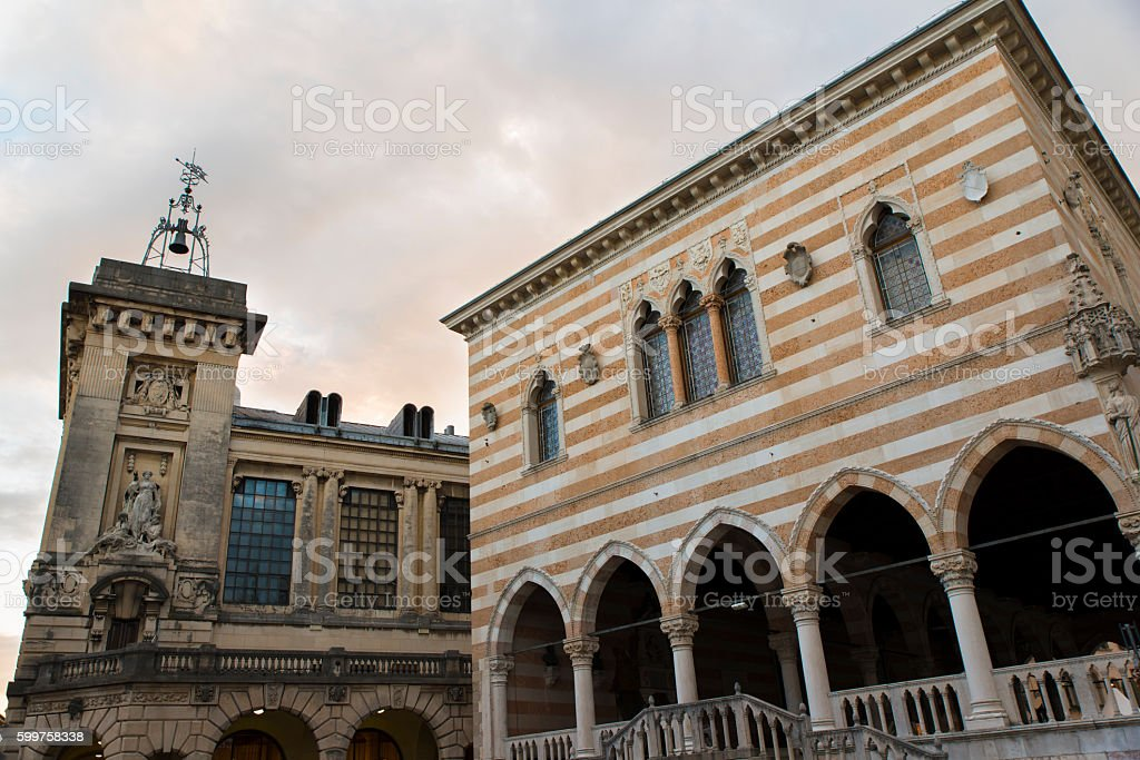 Details of the historical center of Udine stock photo