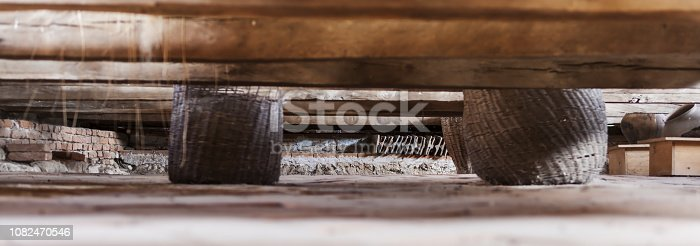 istock Details of the loft of an old medieval castle in Viscri, Transylvania, Romania. 1082470546
