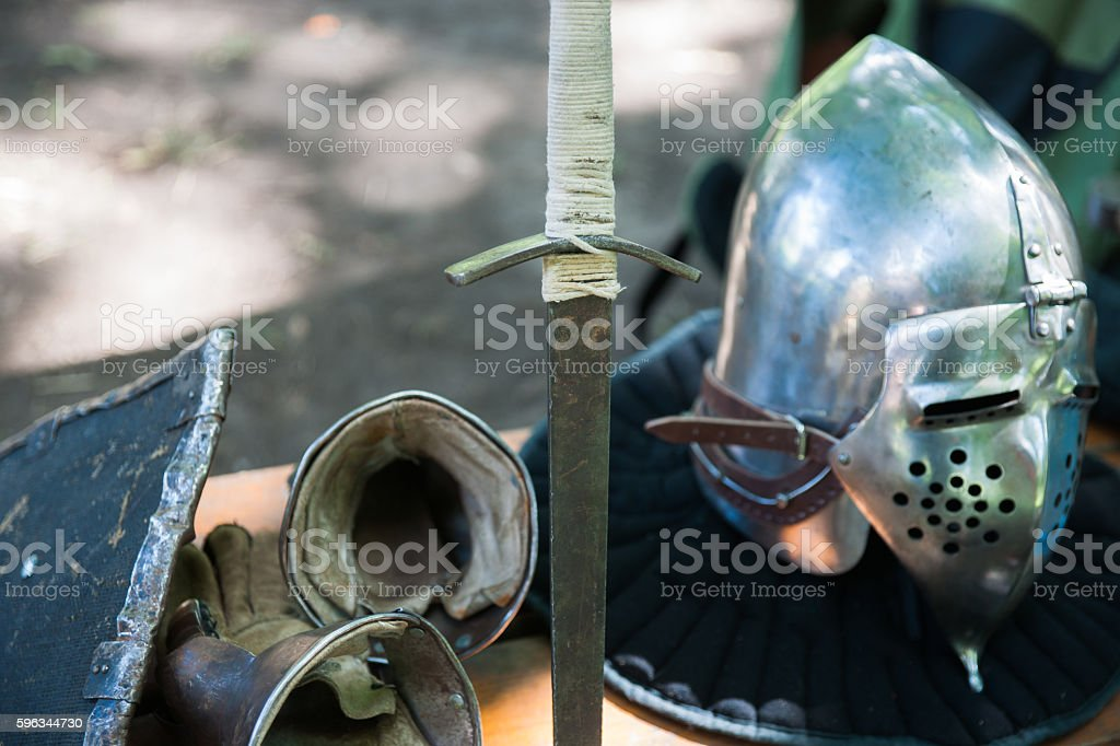 Details of the medieval knight equipment royalty-free stock photo