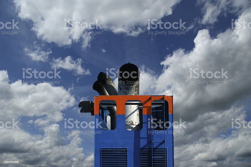 Details of the passenger ship on a sky background royalty-free stock photo