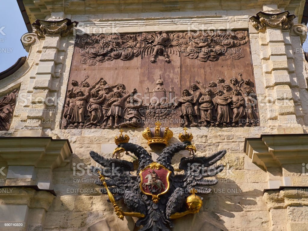 Details of the Peter's Gate in Peter and Paul Fortress. St.Petersburg, Russia stock photo