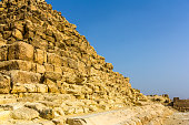 Details of the Pyramid of Henutsen (G1-c) in Giza - Egypt