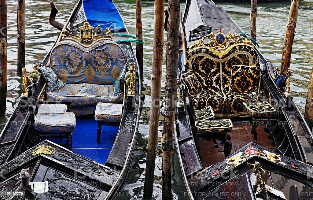 Details of Two Gondolas royalty-free stock photo