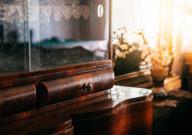 Details of vintage furniture stock photo