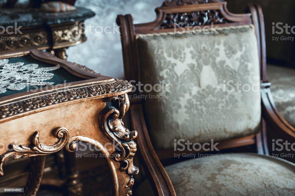 Details of vintage furniture