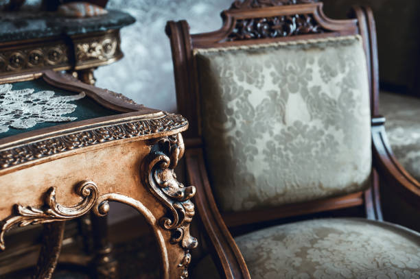 details of vintage furniture - antique stock pictures, royalty-free photos & images