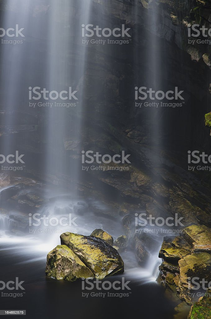 Details of Waterfall royalty-free stock photo