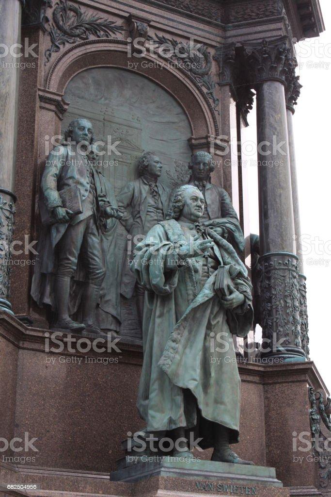 Details on Maria Theresien Platz Monument in Vienna, Austria. The Kaiserforum stock photo