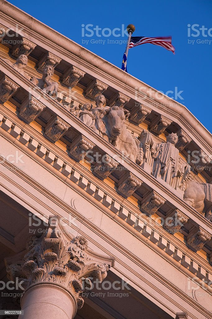Details on State Capitol Building royalty-free stock photo