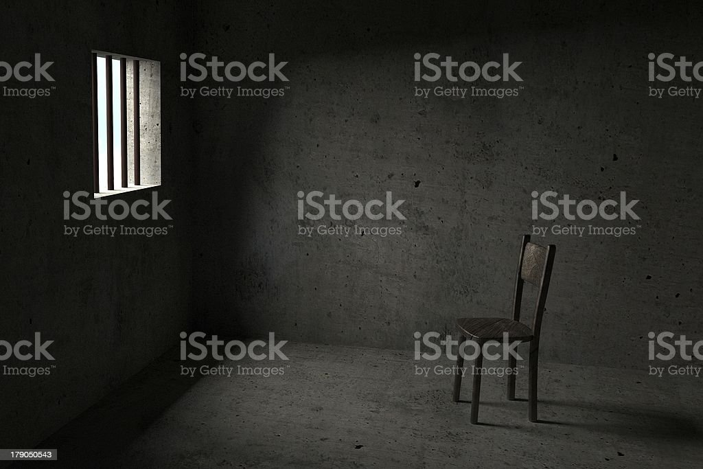 Detained - 3D Prison stock photo