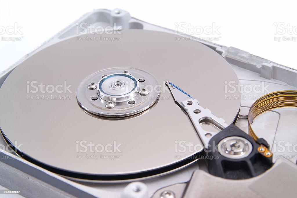 Festplatte Detalied geöffnet Lizenzfreies stock-foto