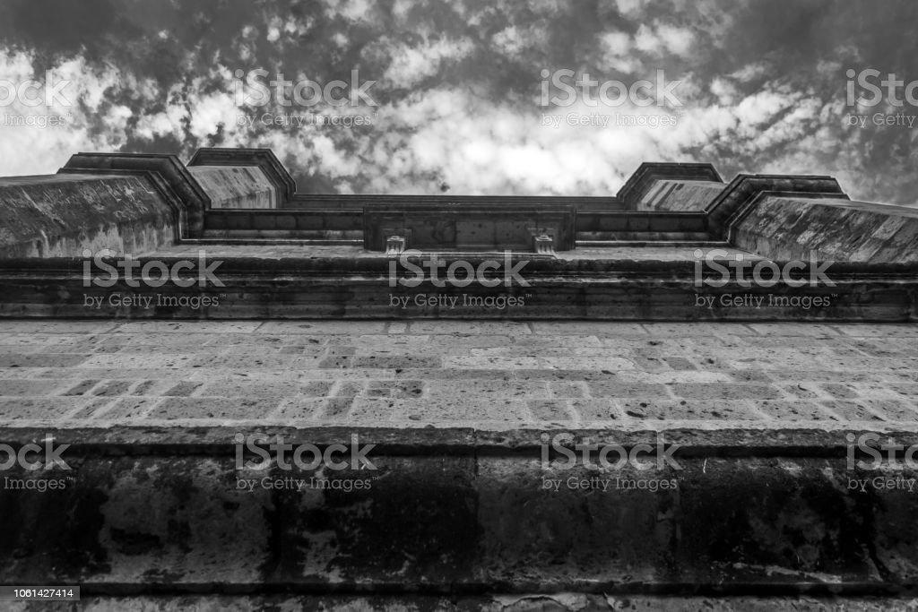 Detalle Arquitectónico de la arquitectura tradicional de Guadalajara stock photo