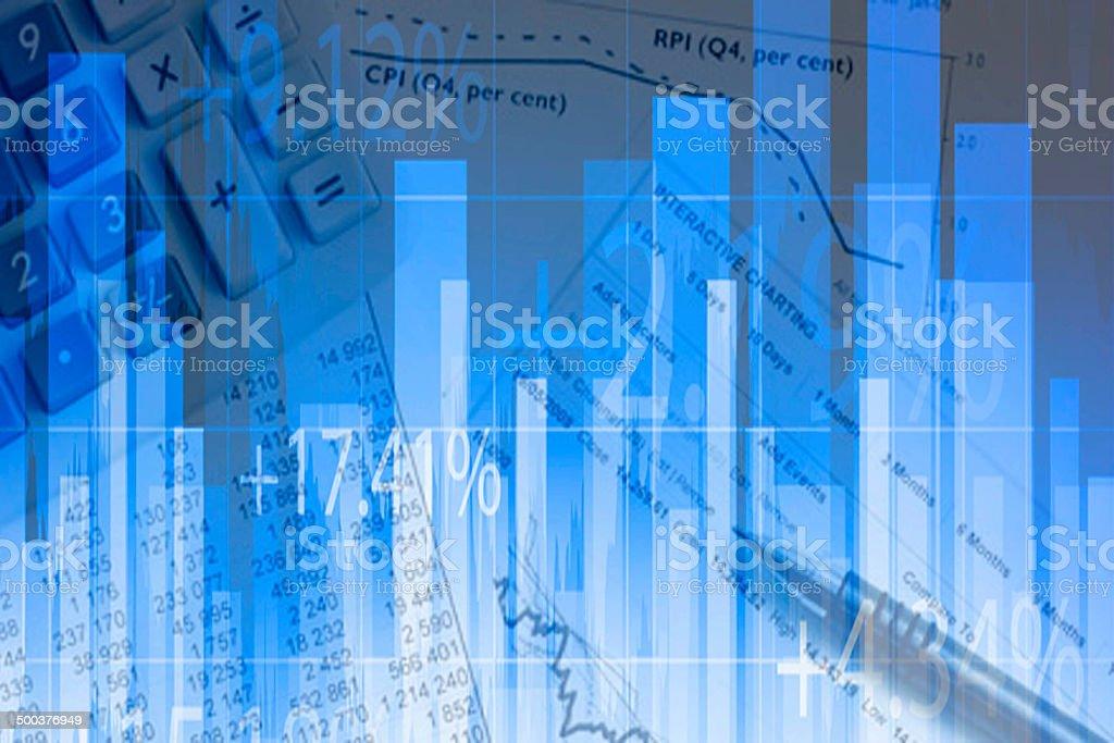 Detalle Financiero stock photo