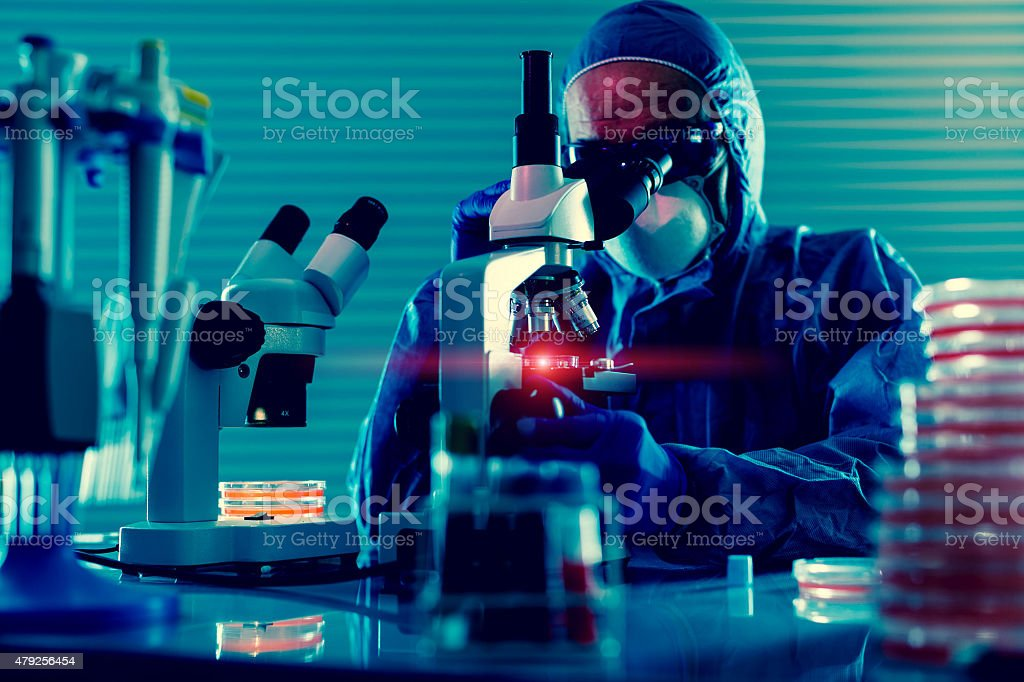 Detection of the pathogen coronavirus Coronaviridae infection in stock photo