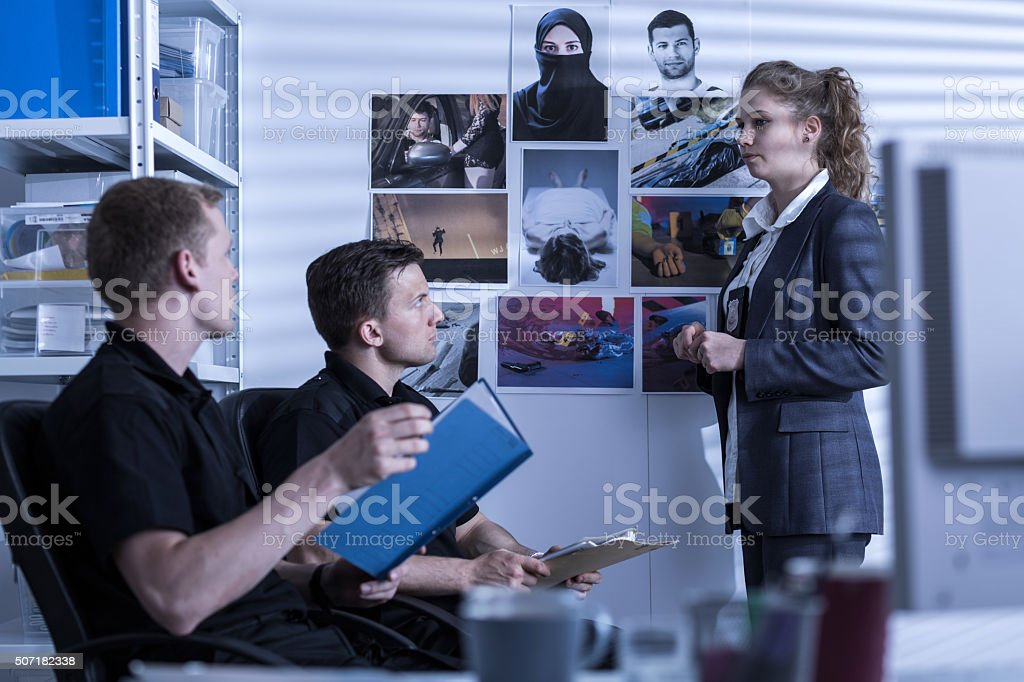 Detective at work stock photo