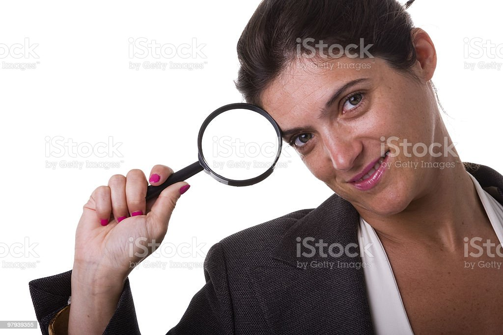 detective businesswoman royalty-free stock photo