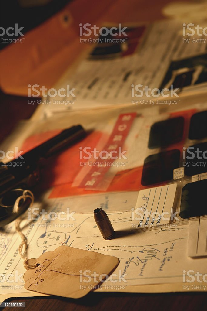 Detective Case File royalty-free stock photo