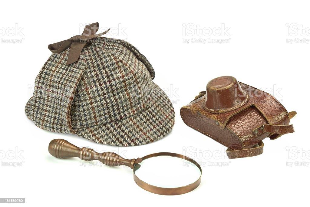 Sherlock Holmes Berretto Alla Sherlock Holmes Lente Di Ingrandimento ... 91c422b6b03d