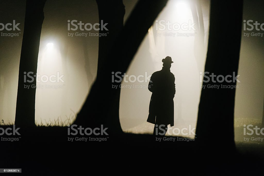 Detective envisioning his next steps stock photo