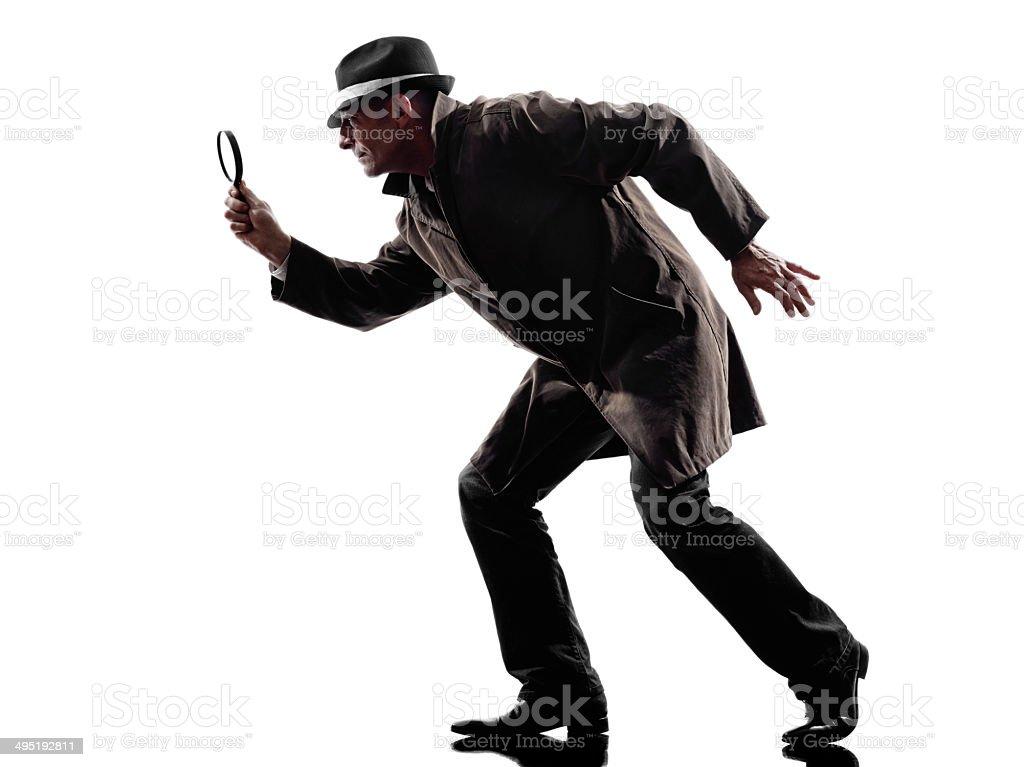 detective man criminal investigations silhouette stock photo