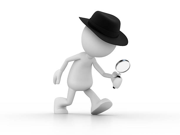 detective - stick figure stock photos and pictures