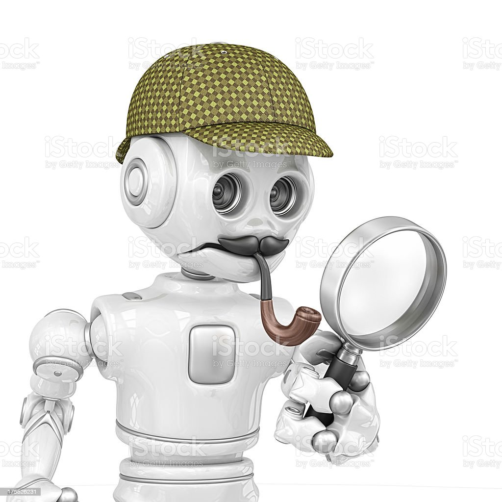 detective robot royalty-free stock photo
