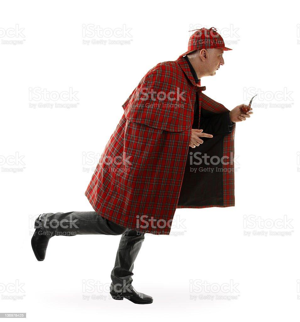 Detective Sherlock Holmes è In Esecuzione - Fotografie stock e altre ... af7603170500
