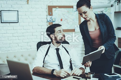 istock Detectives is Working in Private Detective Agency 1127614587