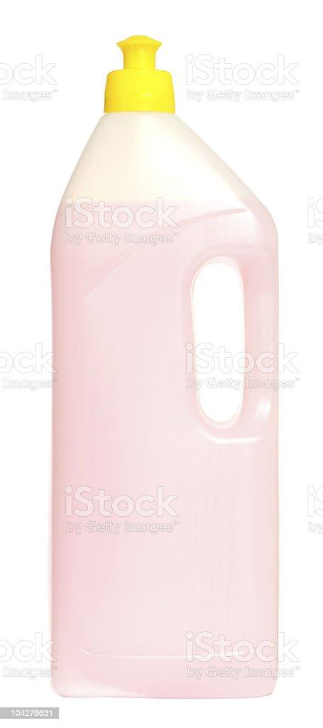 Detergent bottle isolated on white stock photo