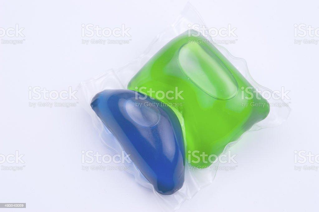 detergent capsule stock photo