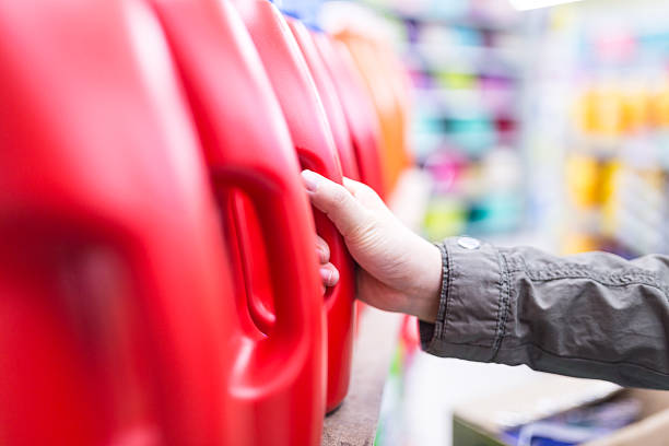detergent sold in the market - commercial dishwasher stock photos and pictures