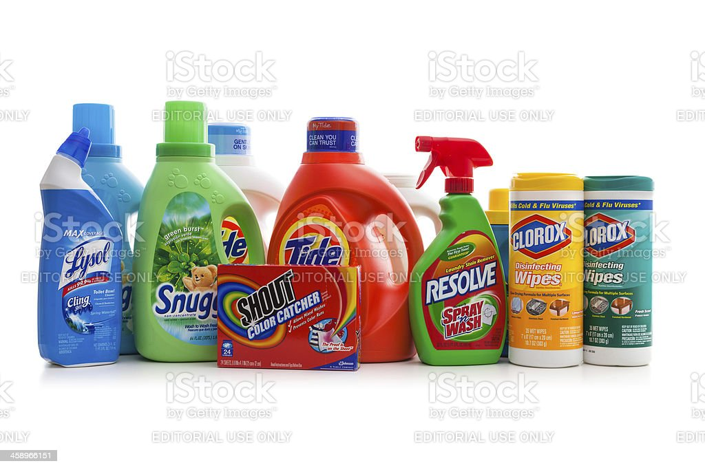Detergents stock photo