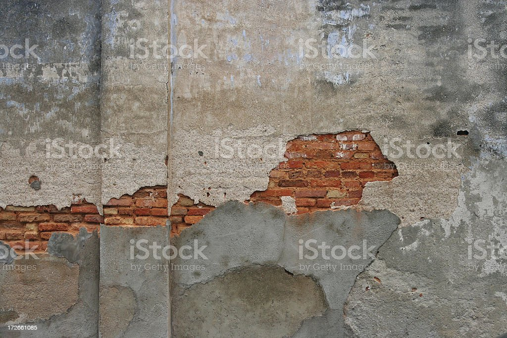 Deteriorating Brick Wall Background royalty-free stock photo