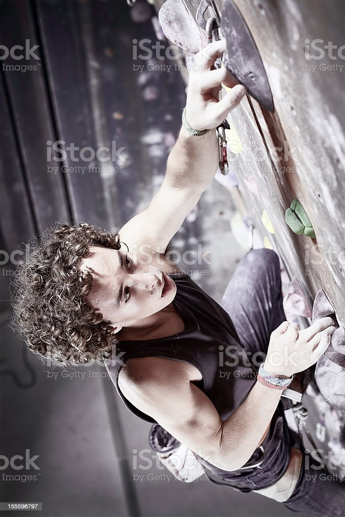 Determination - Climbing to the Top stock photo