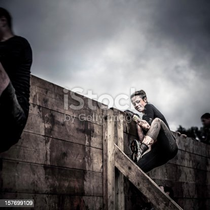 istock Determination: Female athlete in competition 157699109