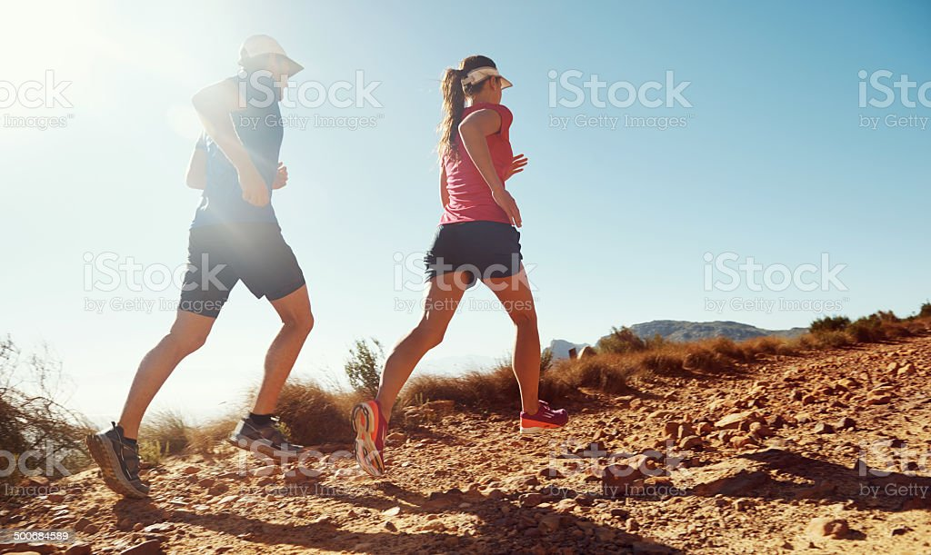 Determination will get us to the view stock photo