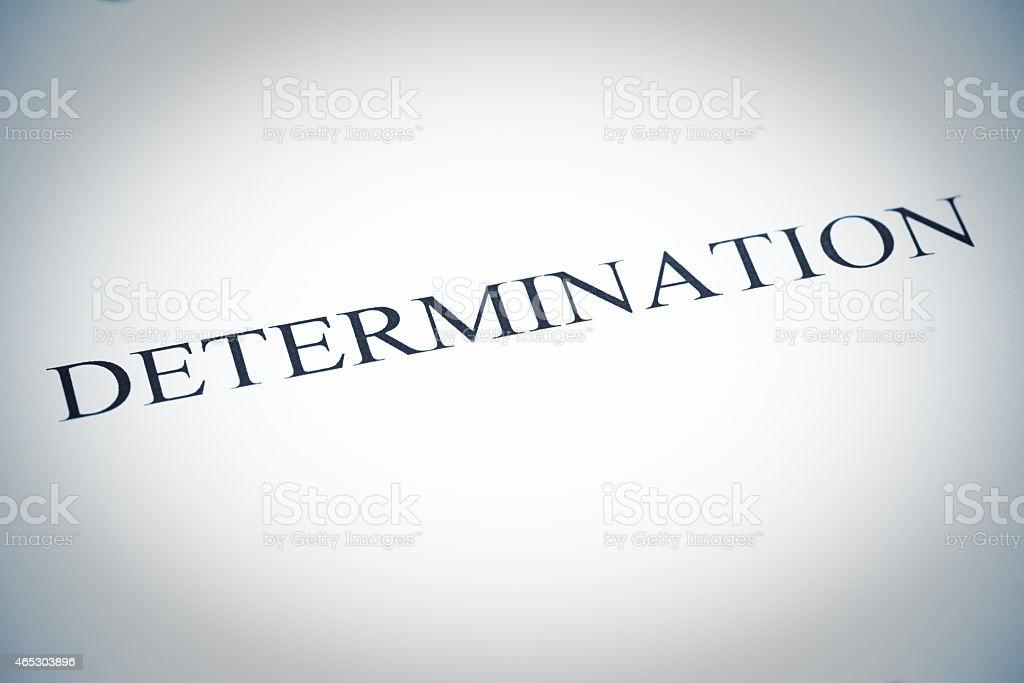Determination Word, Selenium Tone stock photo