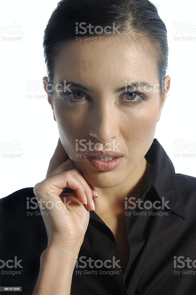 Determined Business Woman royalty-free stock photo