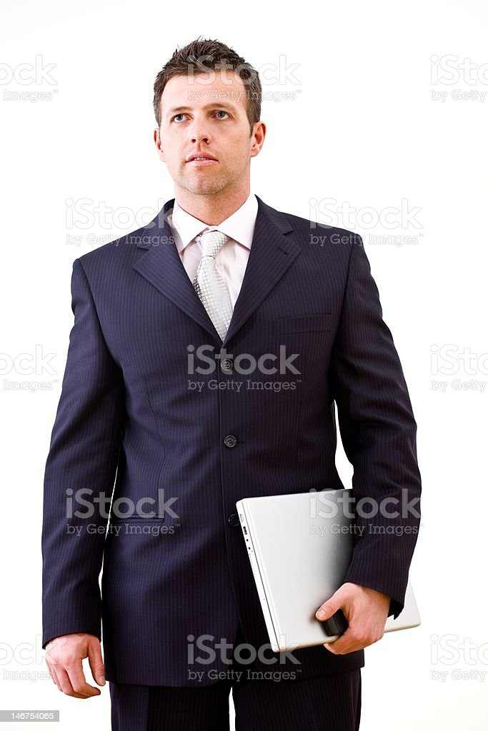 Determined businessman isolated royalty-free stock photo