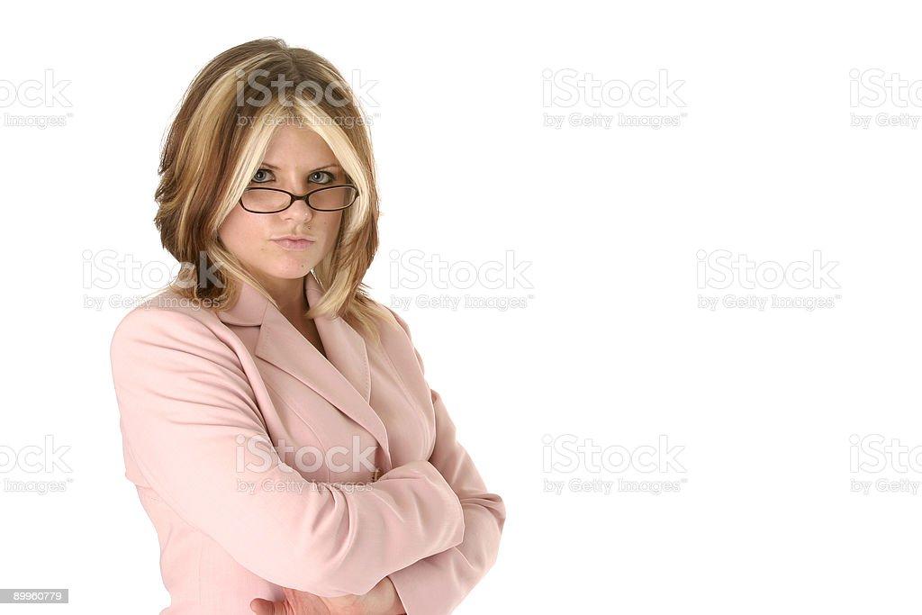 Determined Female Boss royalty-free stock photo