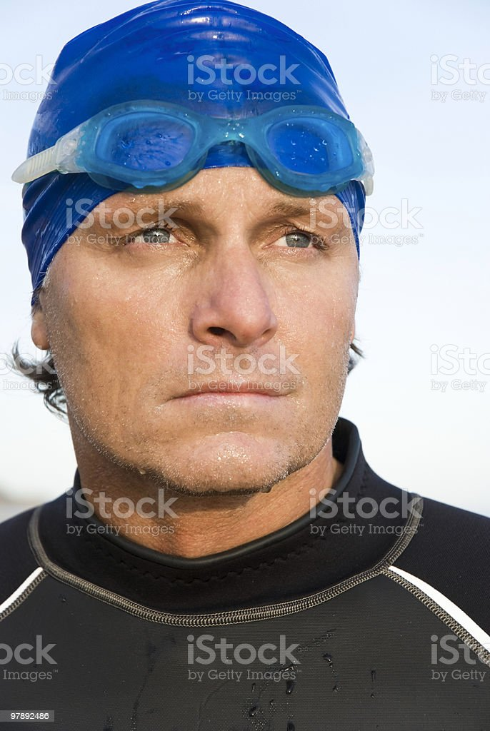 Determined looking triathlete royalty-free stock photo