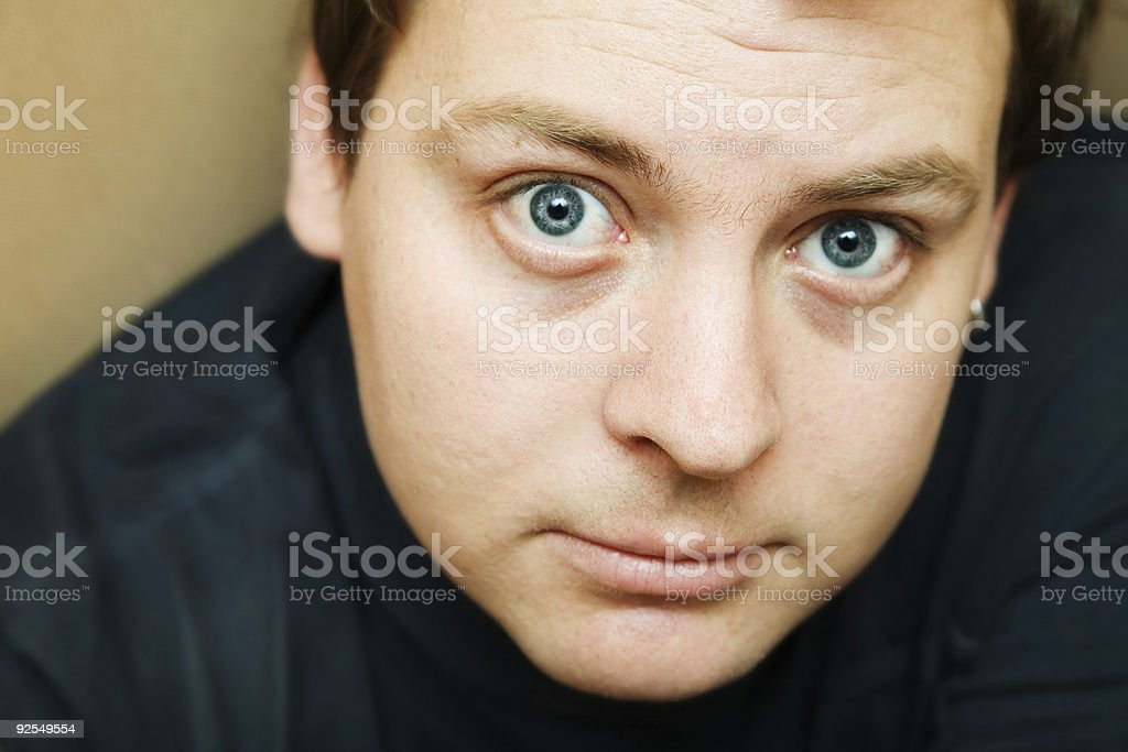 determined man royalty-free stock photo