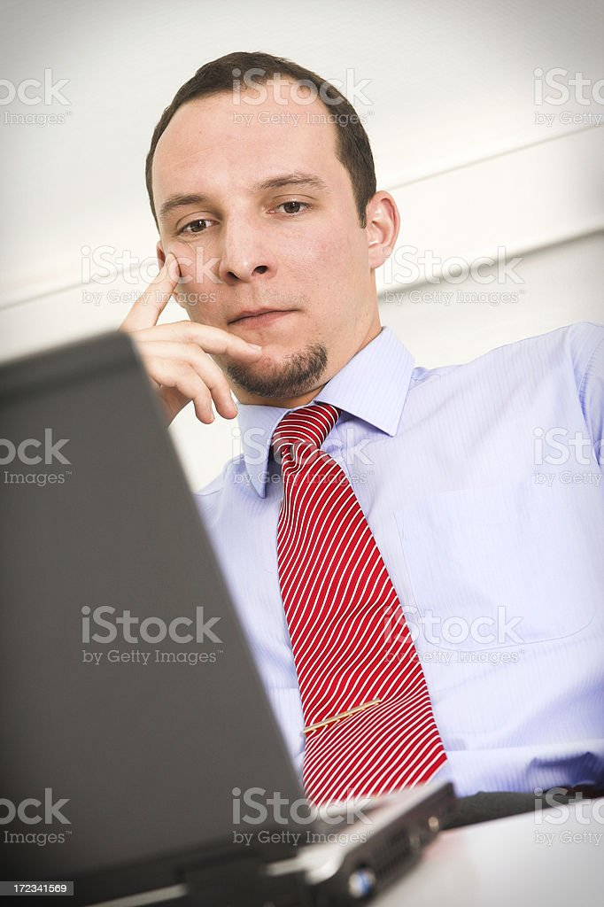 Determined manager stock photo
