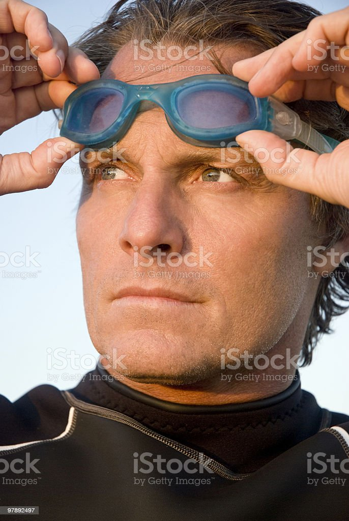 Determined swimmer royalty-free stock photo