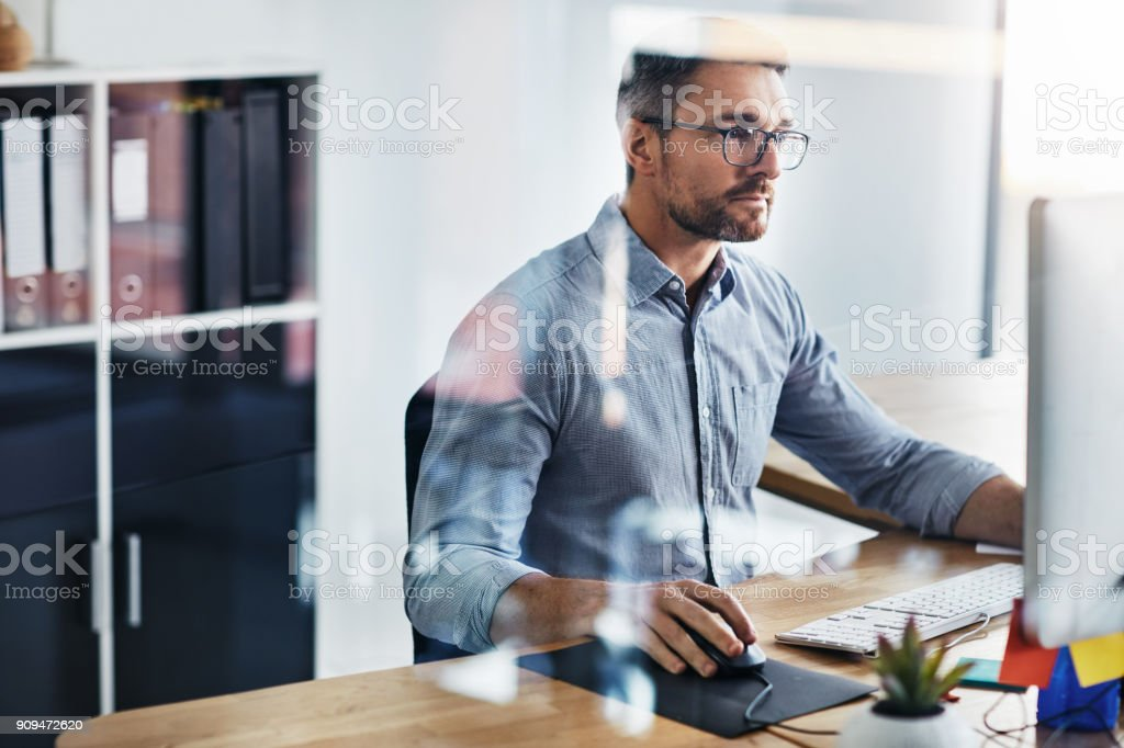 Determined to deliver excellent work stock photo