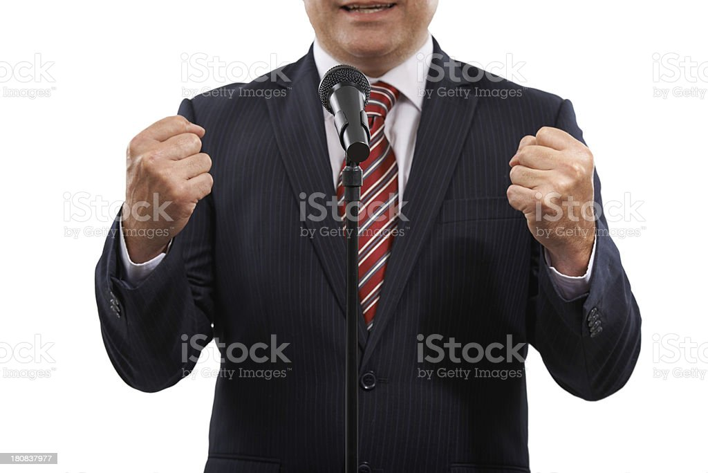 Determined to get his point across royalty-free stock photo