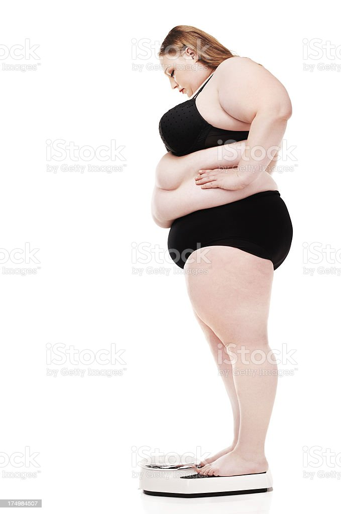 Determined to shed the pounds royalty-free stock photo